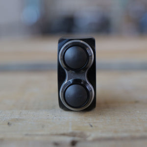 mo.Switch Basic 2 Button, Black, Silver Inlay