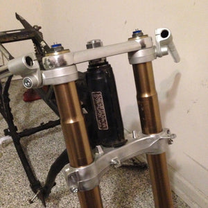 GSX-R Fork on Honda CB750 Frame Conversion Stem - Cognito Moto