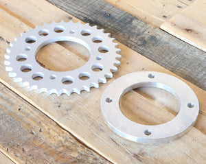 "3/8"" (9.5mm) Rear Offset Sprocket and Spacer Combo for CB550"