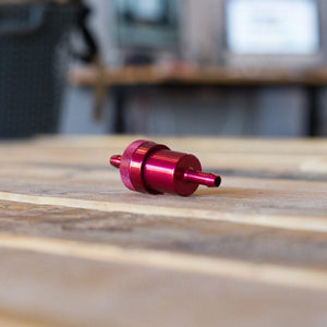 Fuel Filter- Inline CNC Red 1/4""