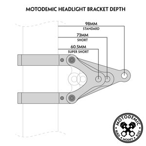 2007-2008 GSX-R1000 MOTODEMIC Headlight Brackets