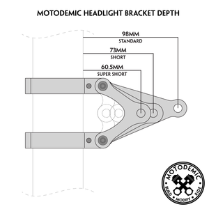 43mm MOTODEMIC Headlight Brackets