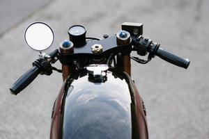 Honda Style Push/Pull Throttle Assembly - Black - Cognito Moto