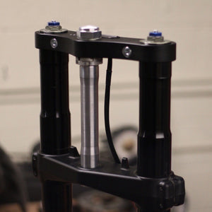 GSX-R Fork on KZ400 Frame Conversion Stem - Cognito Moto