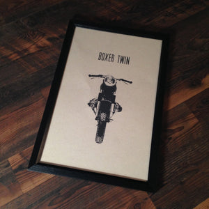 "Limited Edition ""Boxer Twin"" Motorcycle Framed Poster by Inked Iron - Cognito Moto"