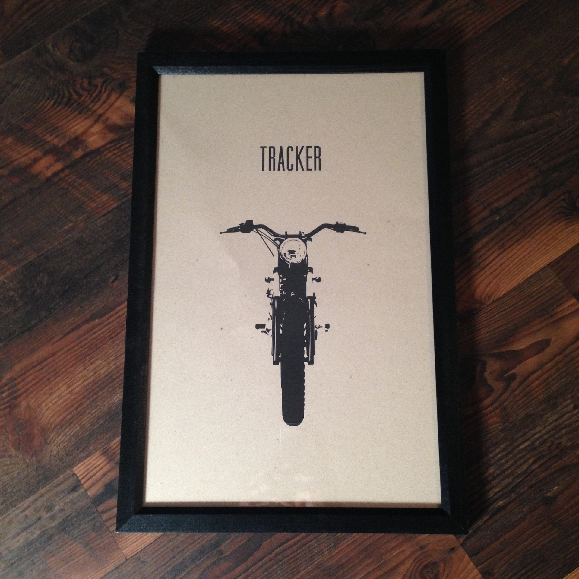 "Limited Edition ""Tracker"" Motorcycle Framed Poster by Inked Iron - Cognito Moto"