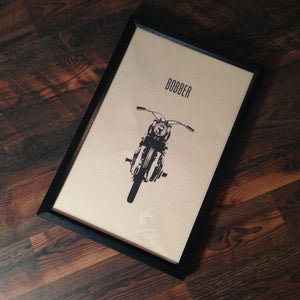 "Limited Edition ""Bobber"" Motorcycle Framed Poster by Inked Iron - Cognito Moto"