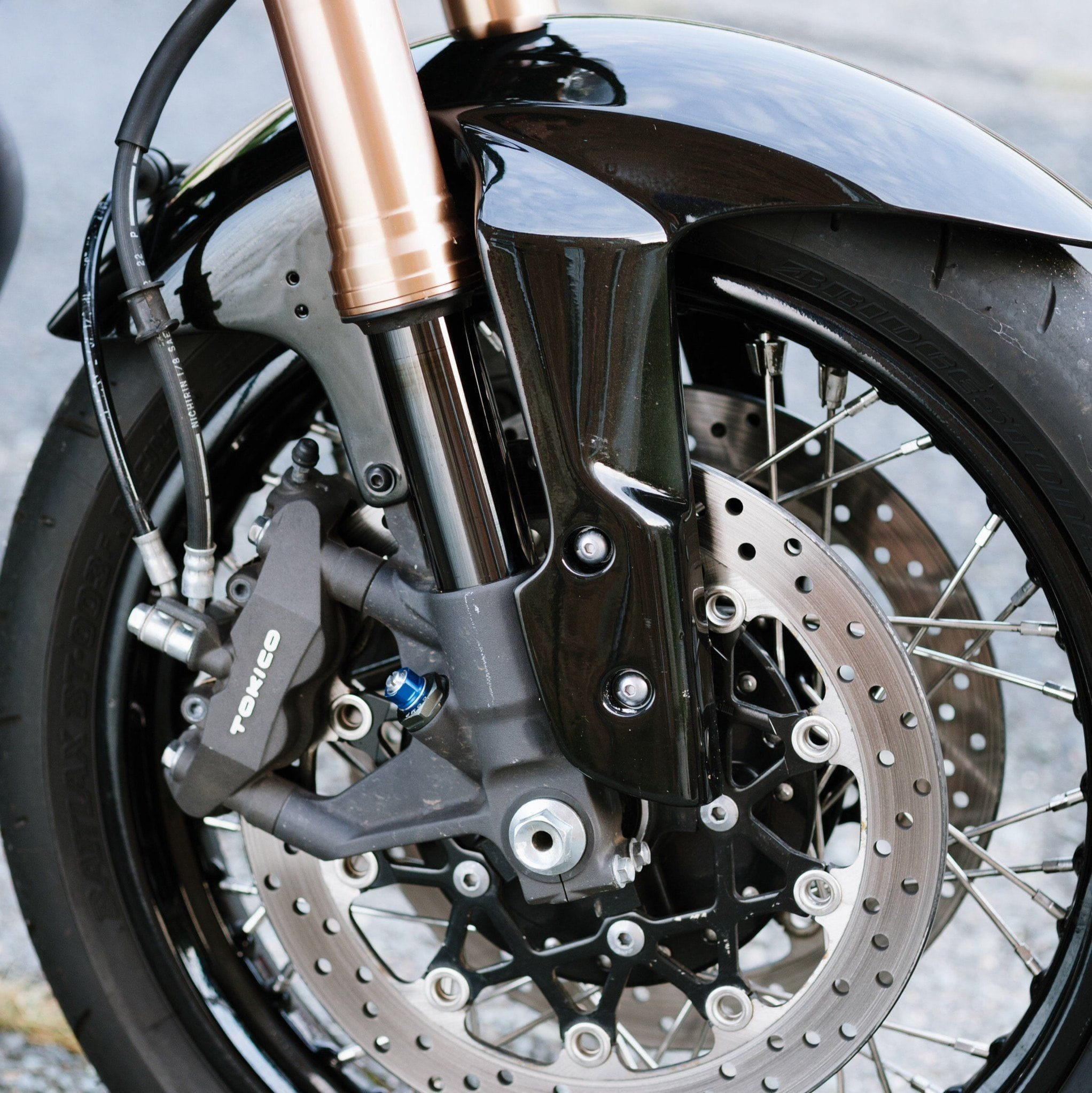 Gsx R Fork On Yamaha Xs650 Frame Conversion Stem Cognito Moto Sr500e Motorcycle Front Disc Brake Caliper Diagram And Parts 2005 2010 Hub Bolt Laced Wheel