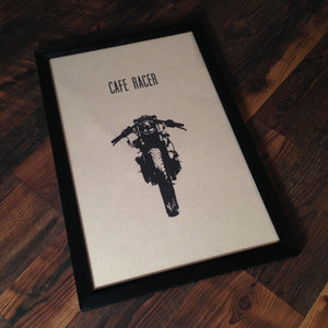 "Limited Edition ""Cafe Racer"" Motorcycle Framed Poster by Inked Iron - Cognito Moto"