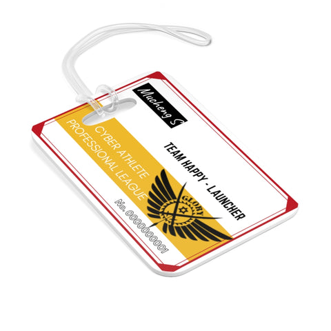 Kings Avatar Game Card Luggage Tag Red/Gold