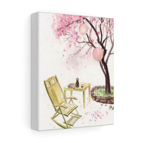 Eternal Love (Ten Miles of Peach Blossoms) Waiting with Wine Canvas