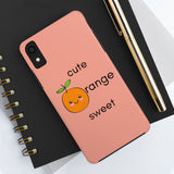 Romance of Tiger and Rose Custom Sweet Orange Phone Cases