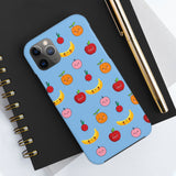 Romance of Tiger and Rose Cute Fruits Custom Phone Cases - Blue