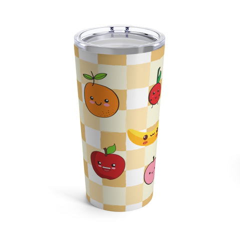 The Romance of Tiger and Rose Cute Fruits Tumbler
