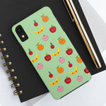 Romance of Tiger and Rose Cute Fruits Custom Phone Cases - Mint Green