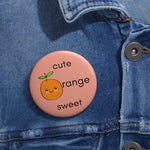 Romance of Tiger and Rose Custom Cute Orange Pins