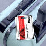 Kings Avatar Game Card Luggage Tag Red on Black