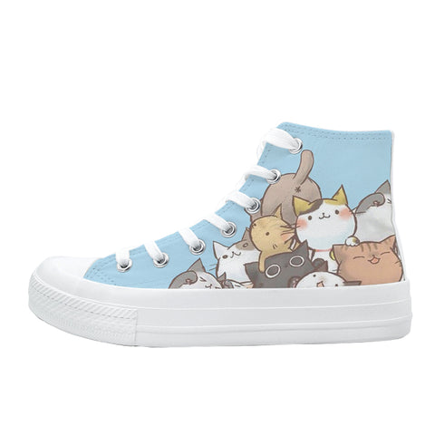 Go Go Squid CDrama Merch Kitty Pile Canvas High Top Sneakers