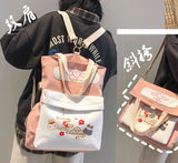 The Untamed (Mo Dao Zu Shi) CDrama Merch Canvas Tote School Backpack (Pink)