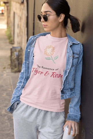 The Romance of Tiger and Rose WordArt T-Shirt