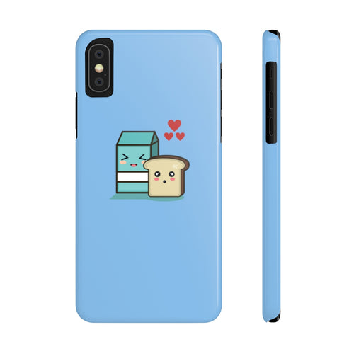 Adorable Milk Loves Bread Protective Slim Phone Cases