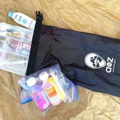 DIY Travel First Aid Kit with stuff sack for carrying