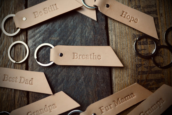 Custom Natural Tan Key Chains