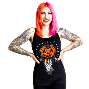 PUMPKIN I SCREAM CONE RACERBACK TANK TOP