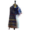 Bhujodi Ikat Cotton Stole: Natural Indigo and Sappanwood