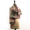Bhujodi Ikat Silk Stole: Natural Iron Grey and Sappanwood