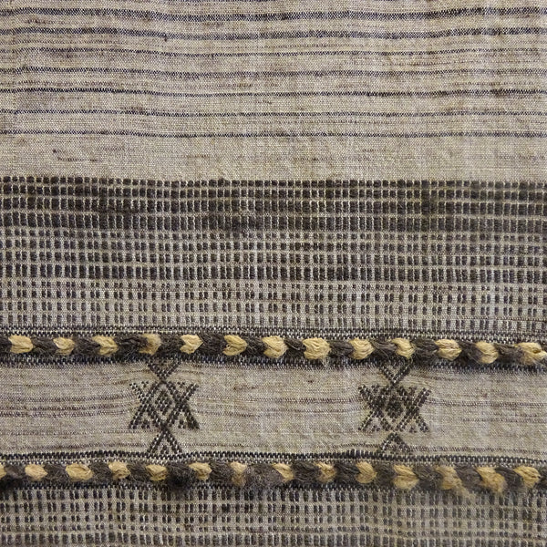 Bhujodi Ikat Silk Stole: Natural Iron Grey