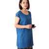 Blue French Sleeve Silk Short Tunic