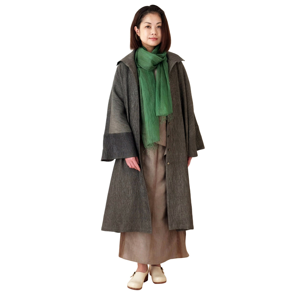 Relaxed-Fit Oversized Quilted Silk Coat