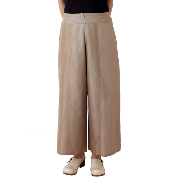 Relaxed Fit Kaki-shibu Dyed Gray Trousers