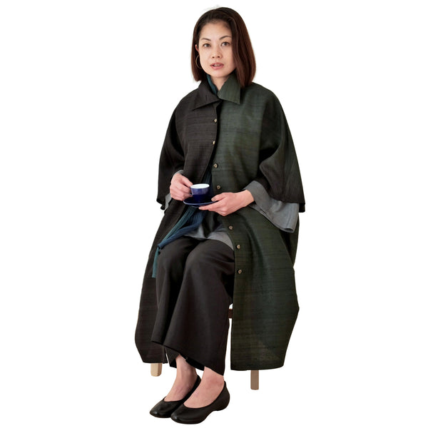 Relaxed-Fit Silk Coat
