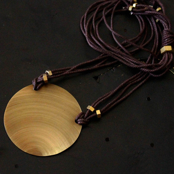 Brass Circle Neckpiece