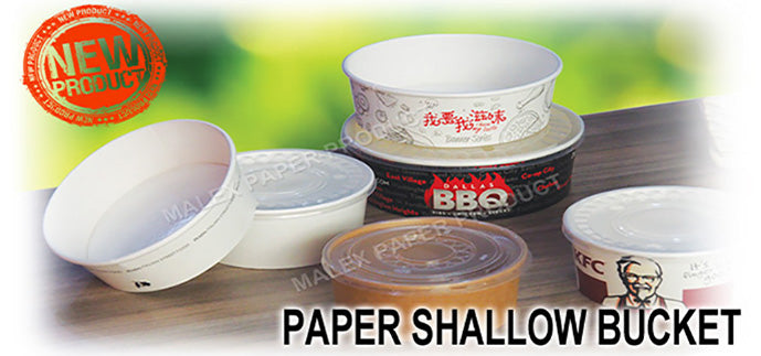 Disposable Paper Shallow Bucket