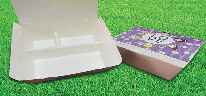 3 Compartment Disposable Lunch Box