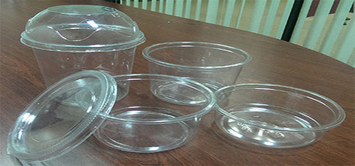 Disposable Round Plastic Containers