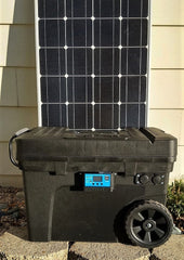 Lithium solar generator for camping and emergency backup power