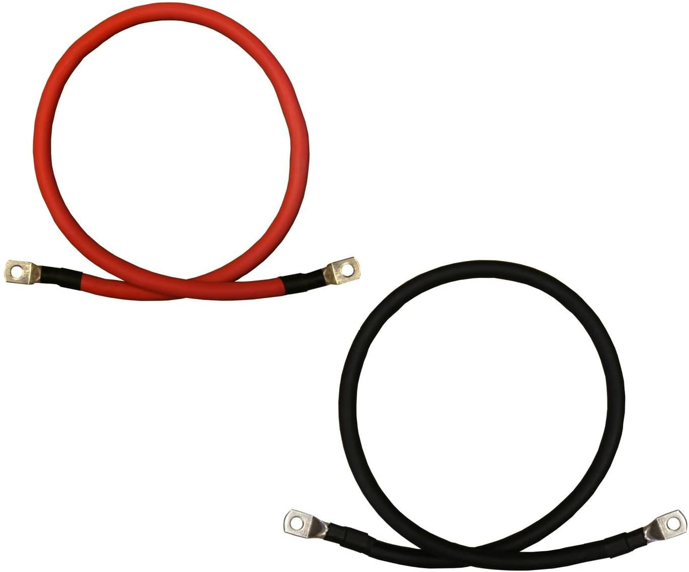 "2 AWG 12"" Battery Connecting Cables"