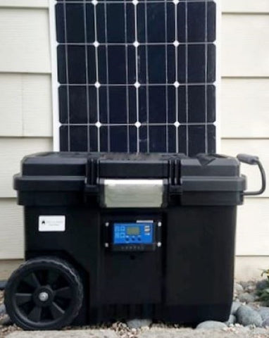 lithium solar generator and solar panel