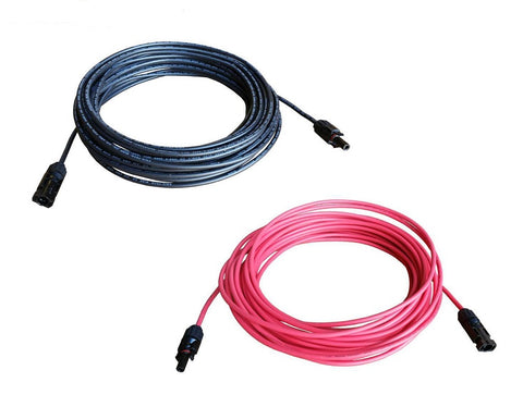 Solar Panel 10 AWG Extension Cables - 10FT