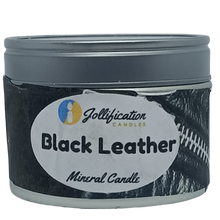 Load image into Gallery viewer, Black Leather Candle Tin