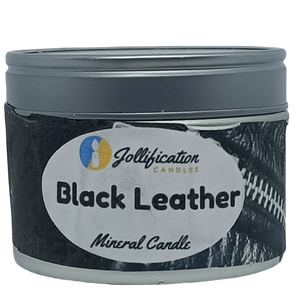 Black Leather Candle Tin