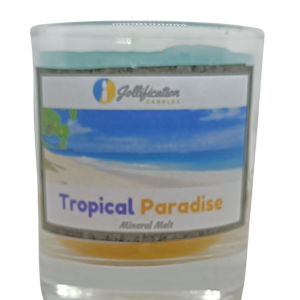Tropical Paradise Candle Glass