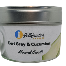 Load image into Gallery viewer, Earl Grey and Cucumber Candle Tin