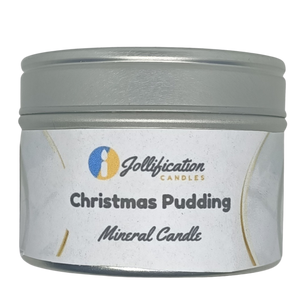 Christmas Pudding Candle Tin