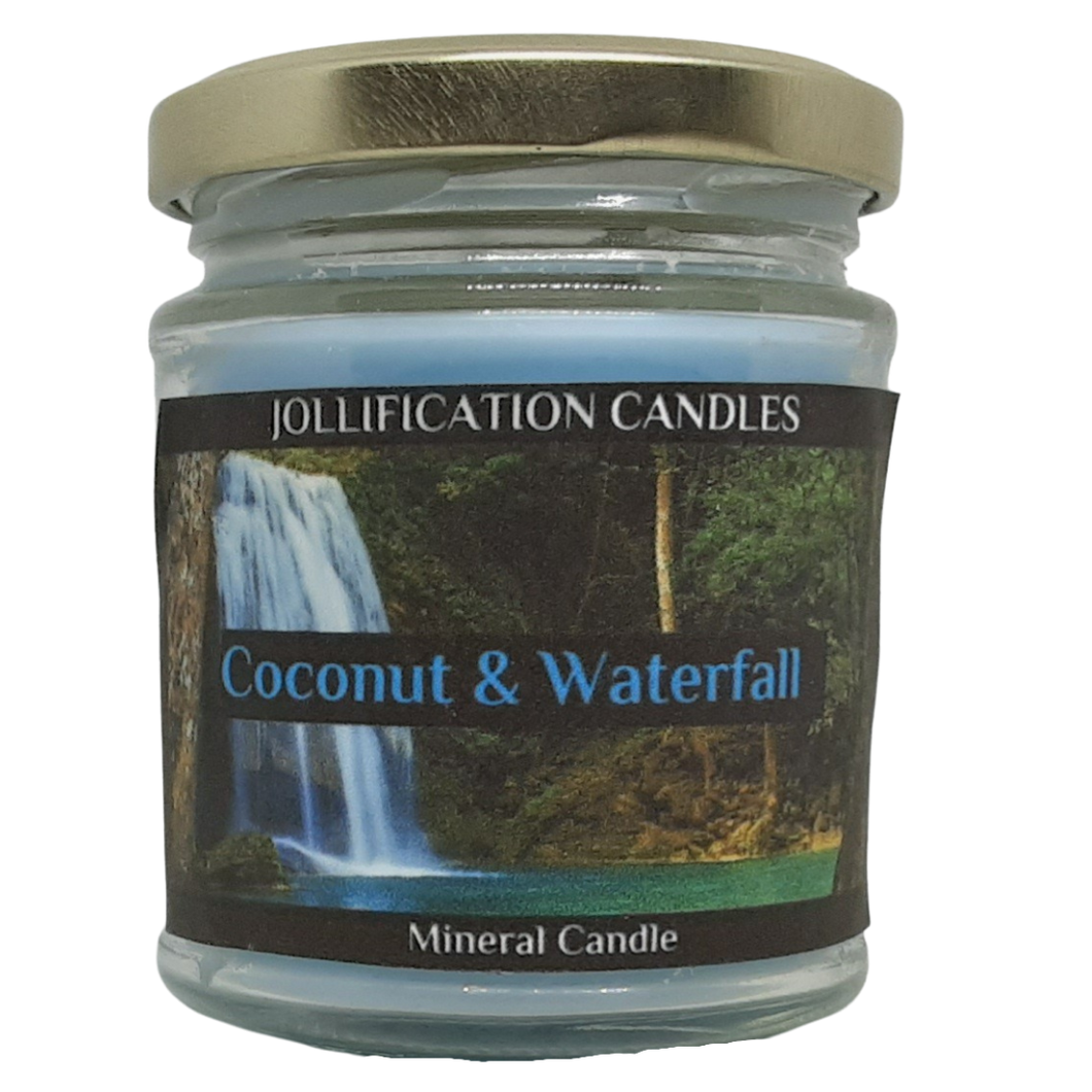 Coconut and Waterfall Candle Jar