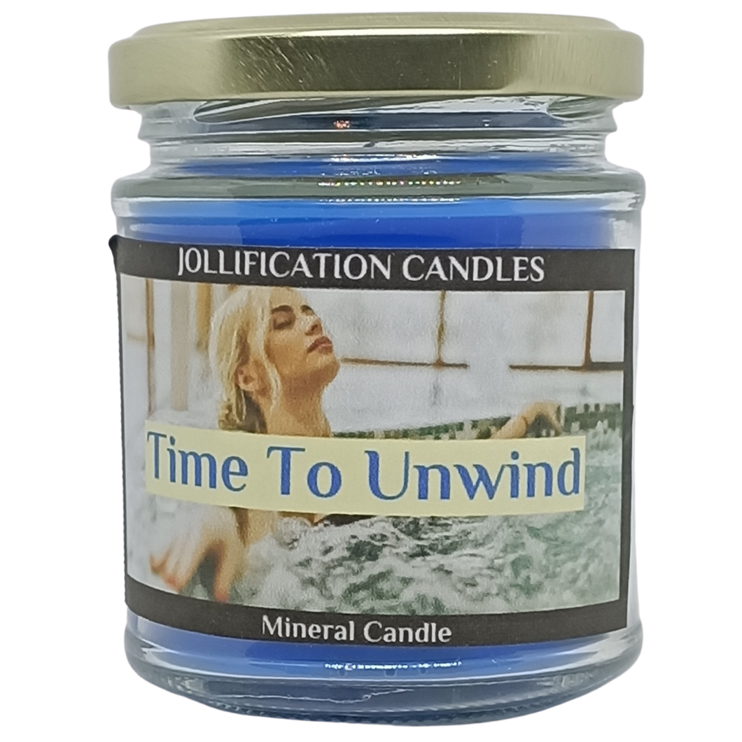 Time To Unwind Candle Jar